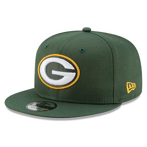 Men's New Era Green Green Bay Packers Basic 9FIFTY Adjustable Snapback Hat