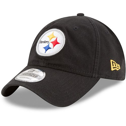 Youth New Era Black Pittsburgh Steelers Primary Core Classic 9TWENTY Adjustable Hat