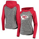 Women's G-III 4Her by Carl Banks Heathered Gray/Red Kansas City Chiefs Championship Ring Pullover Hoodie