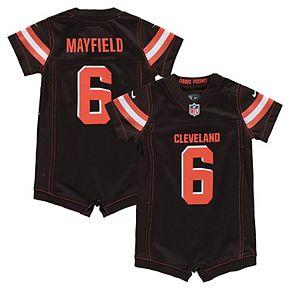 Infant Nike Baker Mayfield Brown Cleveland Browns Romper Jersey