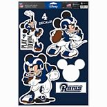 "WinCraft Los Angeles Rams 11"" x 17"" Multi-Use Disney Decals"