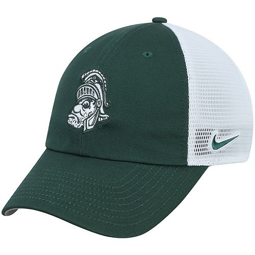 Men's Nike Green Michigan State Spartans Heritage 86 Team Trucker Meshback Adjustable Hat