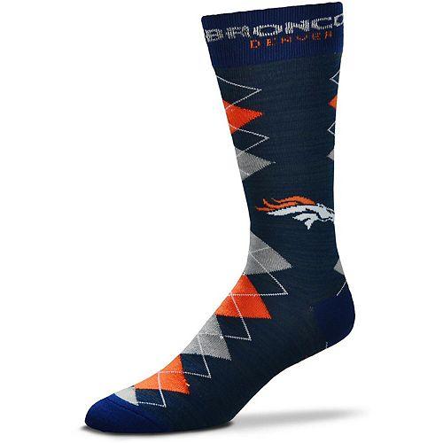 Men's For Bare Feet Denver Broncos Fan Nation Crew Socks