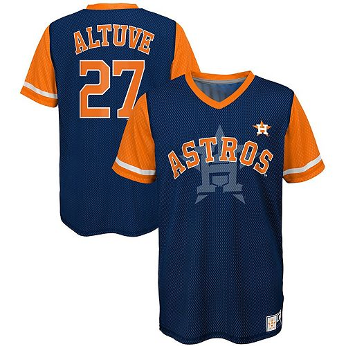 buy online fbe89 a4001 Youth Majestic Jose Altuve Navy/Orange Houston Astros Play Hard Player  V-Neck Jersey T-Shirt
