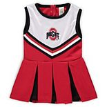 Girls Preschool & Toddler Scarlet Ohio State Buckeyes One-Piece Cheer Dress