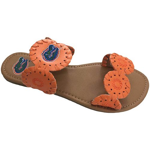 Women's Florida Gators Double Strap Whip Stitch Sandals