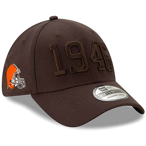 Youth New Era Brown Cleveland Browns 2019 NFL Sideline Color Rush 39THIRTY Flex Hat