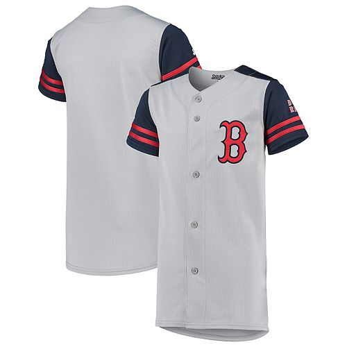finest selection 781fd bc6b6 Youth Stitches Gray/Navy Boston Red Sox Team Jersey