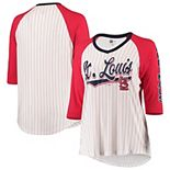 St. Louis Cardinals New Era Women's Plus Size 3/4 Sleeve Raglan T-Shirt - White/Red