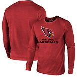 Arizona Cardinals Majestic Threads Lockup Tri-Blend Long Sleeve T-Shirt - Cardinal