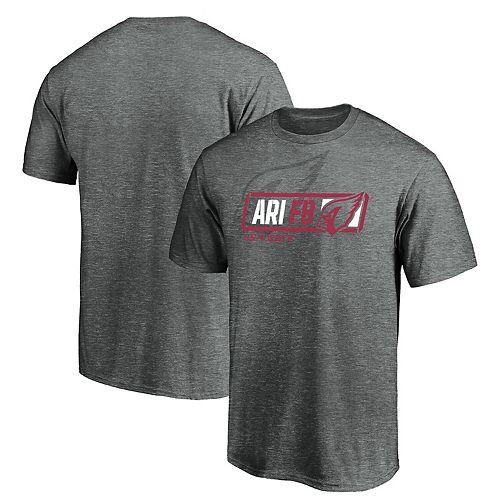 Men's Majestic Gray Arizona Cardinals Iconic Tricode Trainer T-Shirt