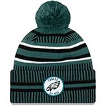 Youth New Era Green/Black Philadelphia Eagles 2019 NFL Sideline Home Sport Knit Hat