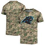 Youth Camo Carolina Panthers Alpha Sublimated Dri-Tek T-Shirt