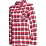 Women's Concepts Sport Red/Navy St. Louis Cardinals Plus Size Piedmont Flannel Nightshirt
