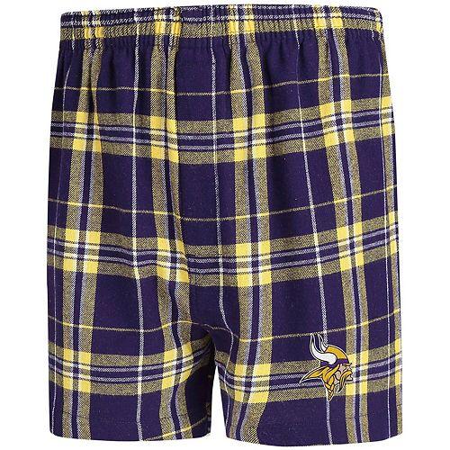Men's Concepts Sport Purple/Gold Minnesota Vikings Hillstone Flannel Boxers
