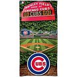 """WinCraft Chicago Cubs 30"""" x 60"""" Ballpark Spectra Beach Towel"""