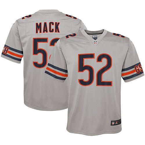 super popular 148a3 a6753 Youth Nike Khalil Mack Silver Chicago Bears Inverted Game ...
