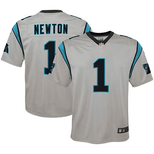 finest selection b457c c6b29 Youth Nike Cam Newton Silver Carolina Panthers Inverted Game Jersey