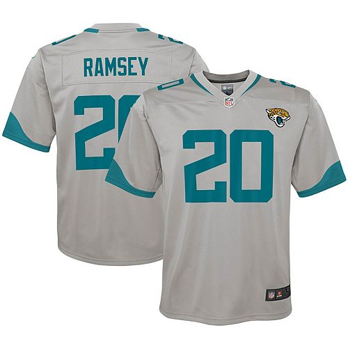 new style fc790 934aa Youth Nike Jalen Ramsey Silver Jacksonville Jaguars Inverted Game Jersey