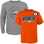 Toddler Orange/Heathered Gray Denver Broncos Club Short Sleeve & Long Sleeve T-Shirt Combo Pack