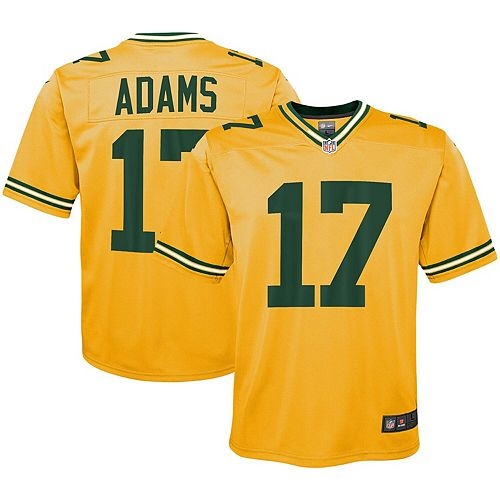 best sneakers 1f685 b9f2e Youth Nike Davante Adams Gold Green Bay Packers Inverted Game Jersey