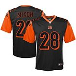 Youth Nike Joe Mixon Anthracite Cincinnati Bengals Inverted Game Jersey