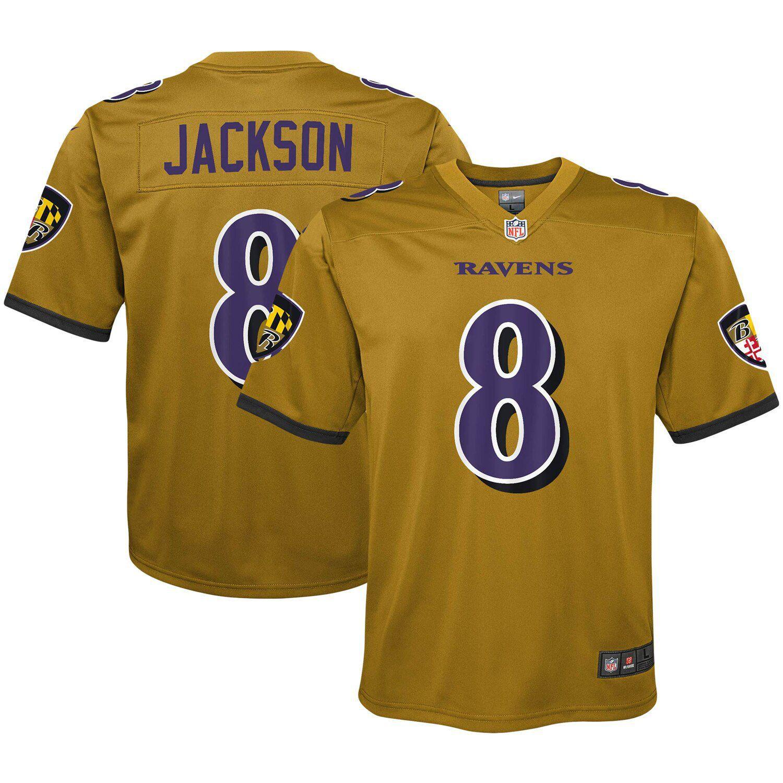 Youth Nike Lamar Jackson Gold Baltimore