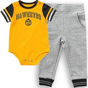 Infant Colosseum Gold Iowa Hawkeyes Baseball Bodysuit and Pants Set