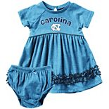 Girls Infant Colosseum Carolina Blue North Carolina Tar Heels Plucky Dress and Bloomer Set
