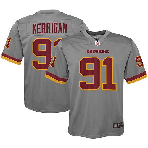 super popular 20894 cc4ef Youth Nike Ryan Kerrigan Gray Washington Redskins Inverted Game Jersey