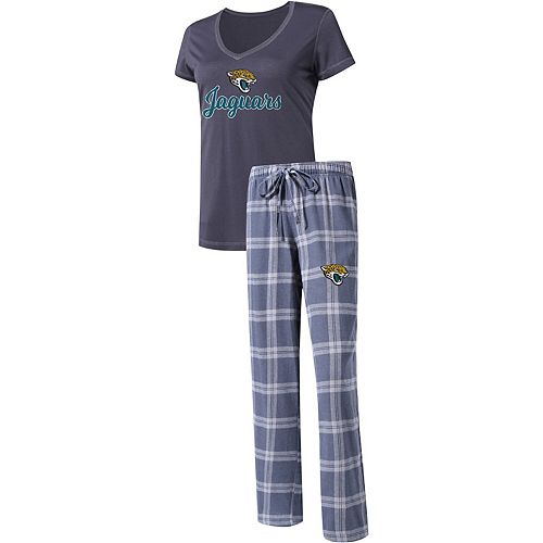 the latest 28915 5abab Women's Concepts Sport Charcoal/Gray Jacksonville Jaguars Troupe V-Neck  T-Shirt & Pants Sleep Set