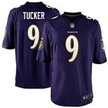 Youth Nike Justin Tucker Purple Baltimore Ravens Team Color Game Jersey
