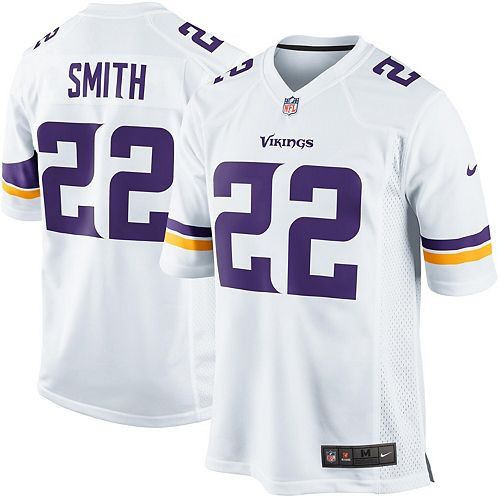 sneakers for cheap 5df4f 5ec43 Mens Minnesota Vikings Harrison Smith Nike White Game Jersey