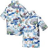 Youth Reyn Spooner White Los Angeles Dodgers Scenic Button-Up Shirt