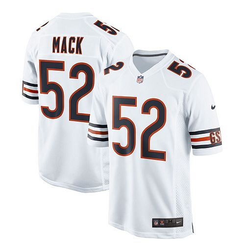 100% authentic 1a273 f18b0 Men's Nike Khalil Mack White Chicago Bears Game Jersey