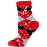 Alabama Crimson Tide Argyle Fuzzy Socks