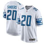 Men's Nike Barry Sanders White Detroit Lions 2017 Retired Player Game Jersey