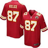 Youth Nike Travis Kelce Red Kansas City Chiefs Team Color Game Jersey