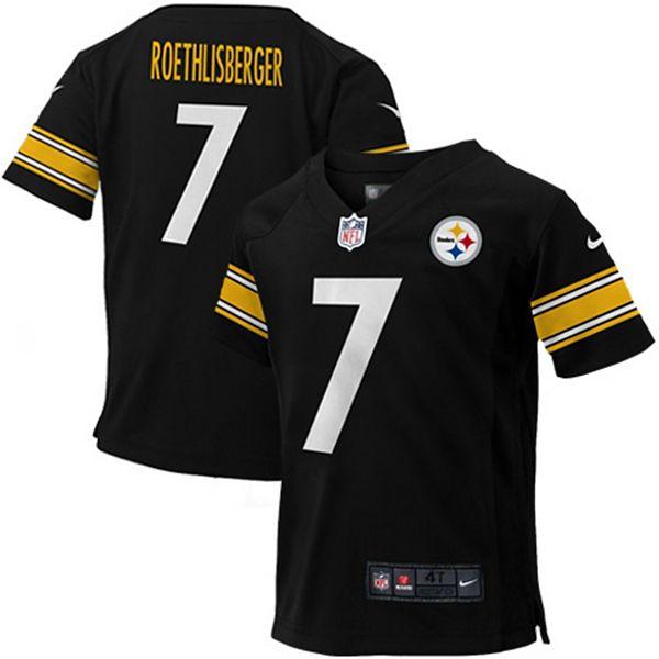Toddler Pittsburgh Steelers Ben Roethlisberger Nike Black Game Jersey