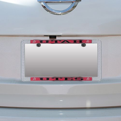 Utah Utes Metal Thin Rim Acrylic Laser-Cut License Plate Frame