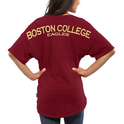 Women's Maroon Boston College Eagles Spirit Jersey Oversized T-Shirt