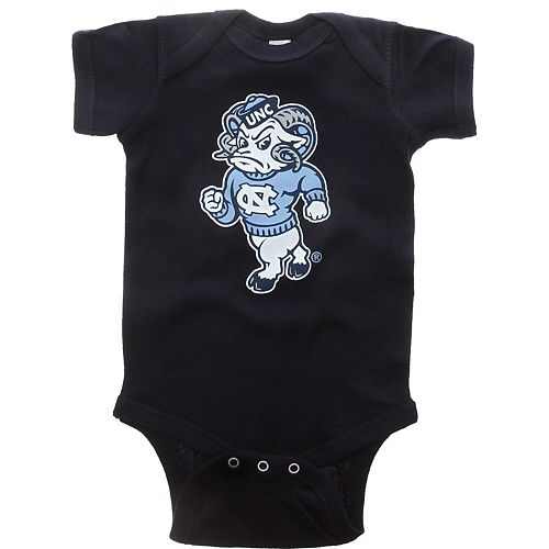 Infant Navy North Carolina Tar Heels Big Logo Bodysuit