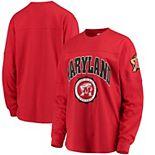 Women's Red Maryland Terrapins Edith Long Sleeve T-Shirt