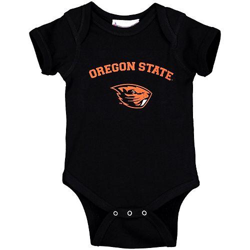 Infant Black Oregon State Beavers Arch & Logo Bodysuit