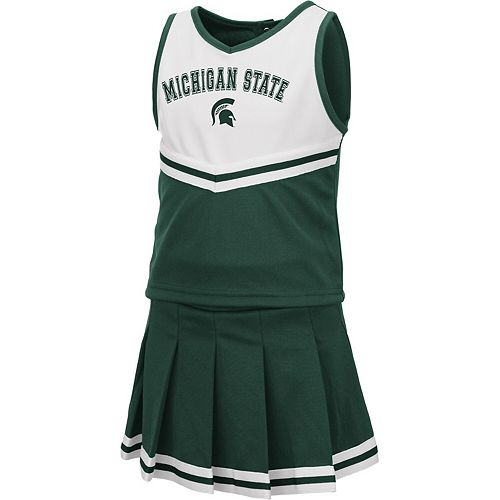 Girls Toddler Colosseum Green Michigan State Spartans Pinky Cheer Dress
