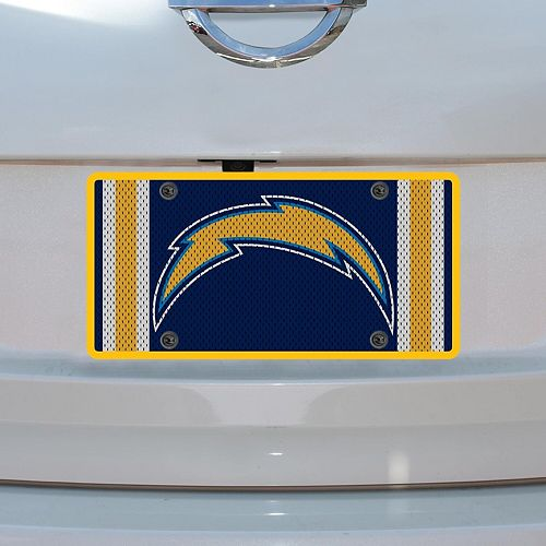 Los Angeles Chargers Jersey Acrylic Cut License Plate