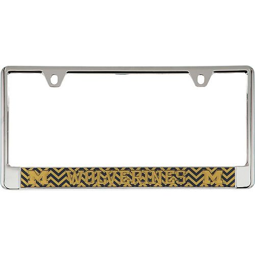 Michigan Wolverines Chevron Bottom Only Metal Acrylic Cut License Plate Frame