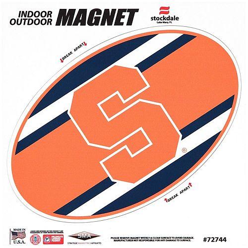"Syracuse Orange Super Stripe 12"" x 12"" Oval Full Color Magnet"