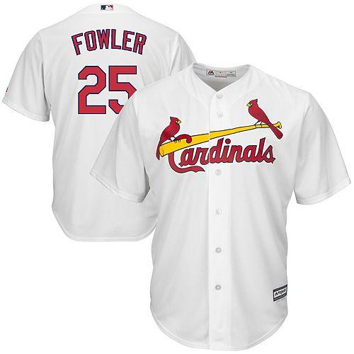 Men's Majestic Dexter Fowler White St. Louis Cardinals Home Cool Base Jersey