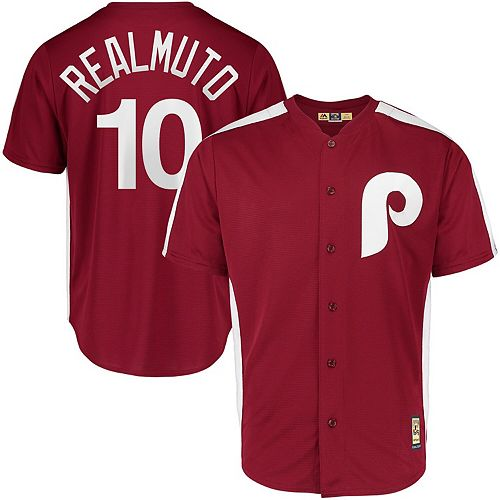 Men's Majestic JT Realmuto Maroon Philadelphia Phillies 1979 Saturday Night Special Cool Base Cooperstown Player Jersey